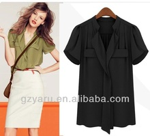 korean formal blouses/plus size formal blouses