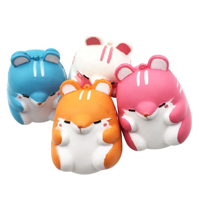 Cute Soft Stress Relief Hamster Squishy Squeeze <strong>Toy</strong> Wholesale Scented Slow Rising Kawaii Squishies <strong>Toys</strong>