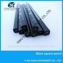 7 inch wooden black square ruler pencil