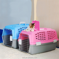 Wholesale Dog Cat Cage Plastic Pet Plane Traveling Cage