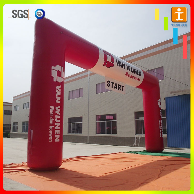 Custom gaint advertising race event inflatable start finish line