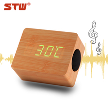 new design 3w wood bluetooth speaker portable wireless car subwoofer with acoustic control china factory