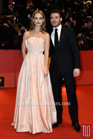 Celebrity Inspired Lily James Cinderella Berlin Film Festival Premiere Strapless Beautiful Dress