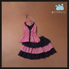 New design kids skirt and top 2pcs girl party wear western dress wholesale children's boutique clothing