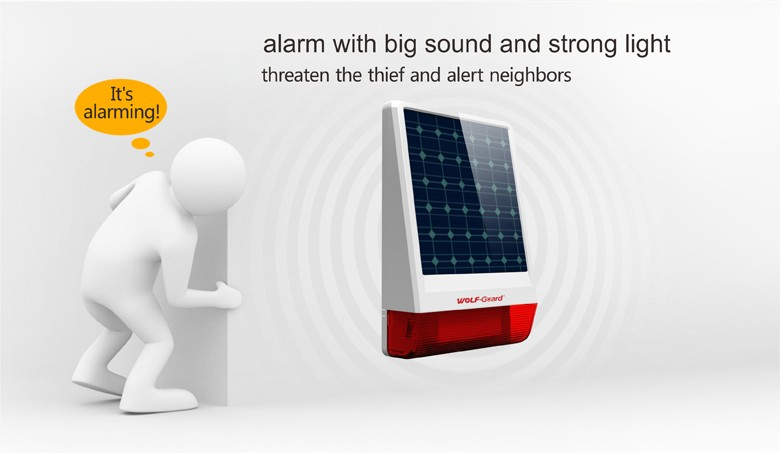 Wolf-Guard 2017 GSM Waterproof Solar-Powered Security Alarm Spot Intruder system with CE ROHS