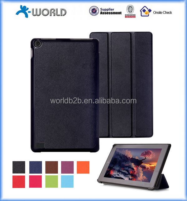 Folded Stand PU Leather Case for Kindle Fire 7, case for kindle 2015 version