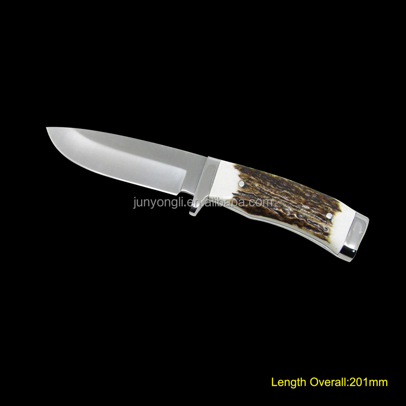 Fixed Blade Knife with Deer Horn Handle
