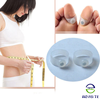 Health White Silicon Magnetic Slimming Foot Rings Lose Weight Toe Ring