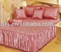 7pcs Jacquard Satin Quilted Bedspread Set