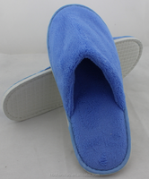 cheap price Bright Blue color Coral Fleece disposable slipper