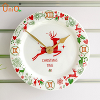 Quartz analog type chrismas decorative clock for promotional gifts