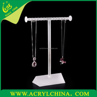 frosted acrylic necklace display stand,lucite jewelry display rack,tabletop display series perspex