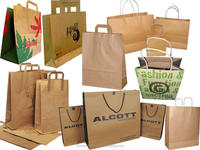 custom very nice good quality white kraft paper bag