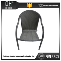 leisure PE rattan cafe tables and chairs supplier