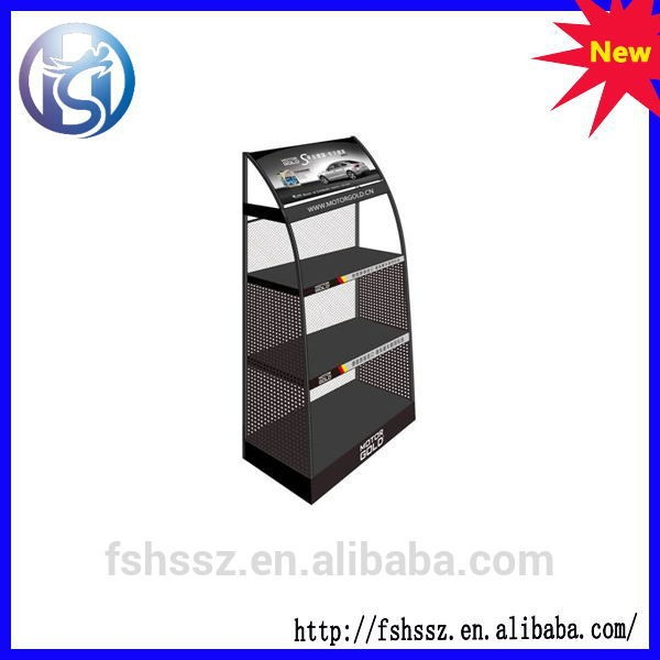 4 layers lubricating oil display stand for retail stores HS-ZS003