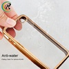 cell phone accessories cheap mobile electroplate case for iPhone 4 transparent soft silicon 0.3mm electroplated tpu case