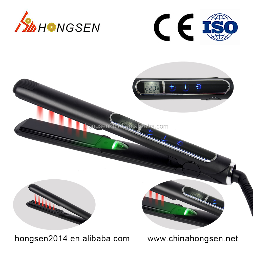 Best Selling Silk 1 Inch LCD Display Salon Classic Hair Straightener Flat Iron