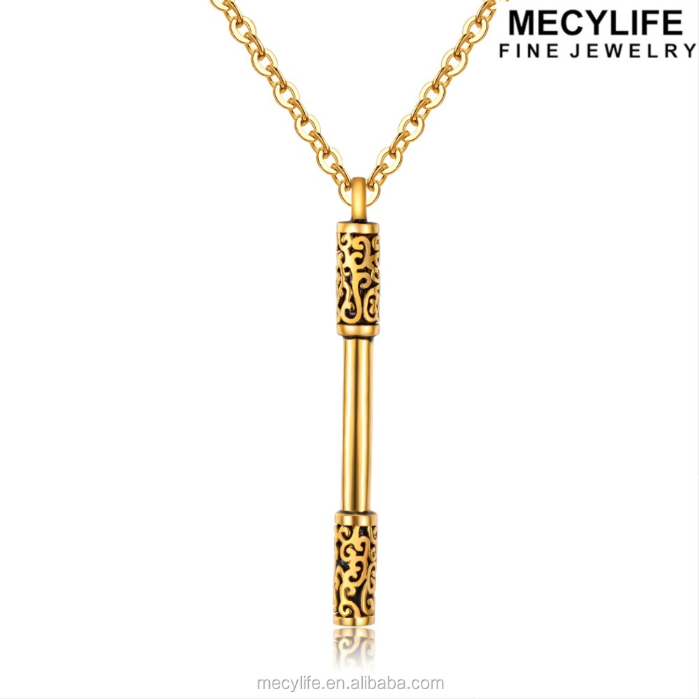 "MECYLIFE Newest Men's Jewelry ""Western Journey"" Gold Stick Best Gift Ideas Boys Pendant"
