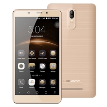 Gold LEAGOO M8 Pro Phone Dual Rear Cameras with 5.7 Inch Screen and Fingerprint