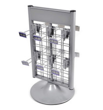 Light Duty Two-Tier Metal Wire Display Rack For Hanging Items