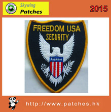 shield shape with embroidery security badges for shoulder knot