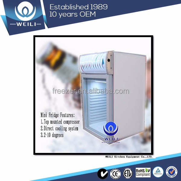 220~240V Back Bar wall mounted commercial refrigerator