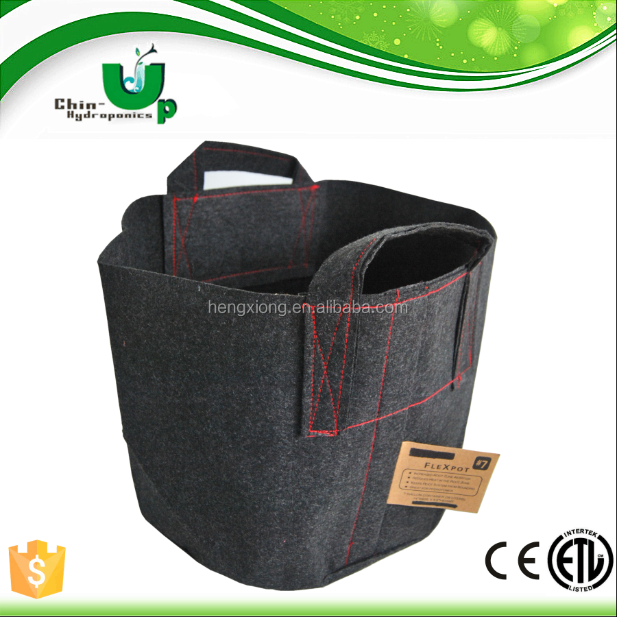 Hydroponics indoor grow nonwoven agriculture plant pot cover/ wholesale fabric plant pot/ plant bag