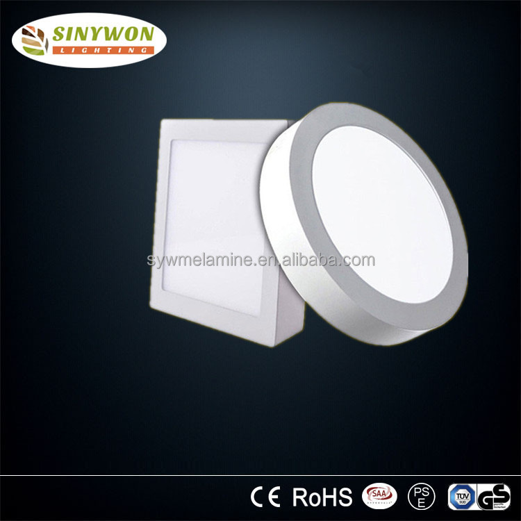 CE ROHS square round mount surface led panel light 6w 12w 18w led downlight