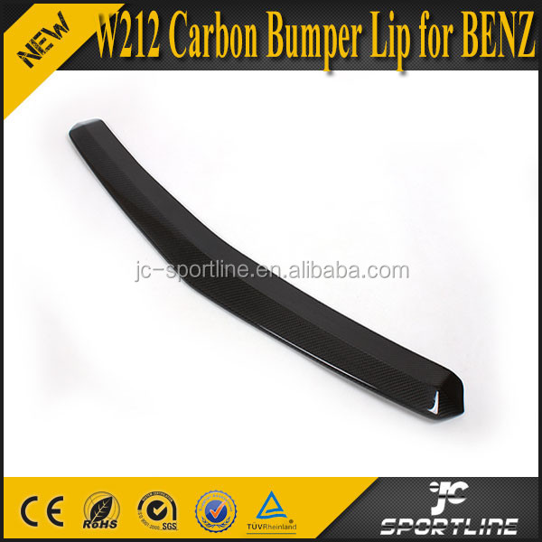 09-12 E Class W212 Carbon Bumper Lip for Mercedes Benz E200 E260 E300
