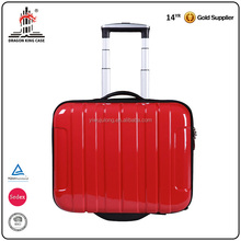 PC printed red two wheels double layer carry-on travel case hard luggage