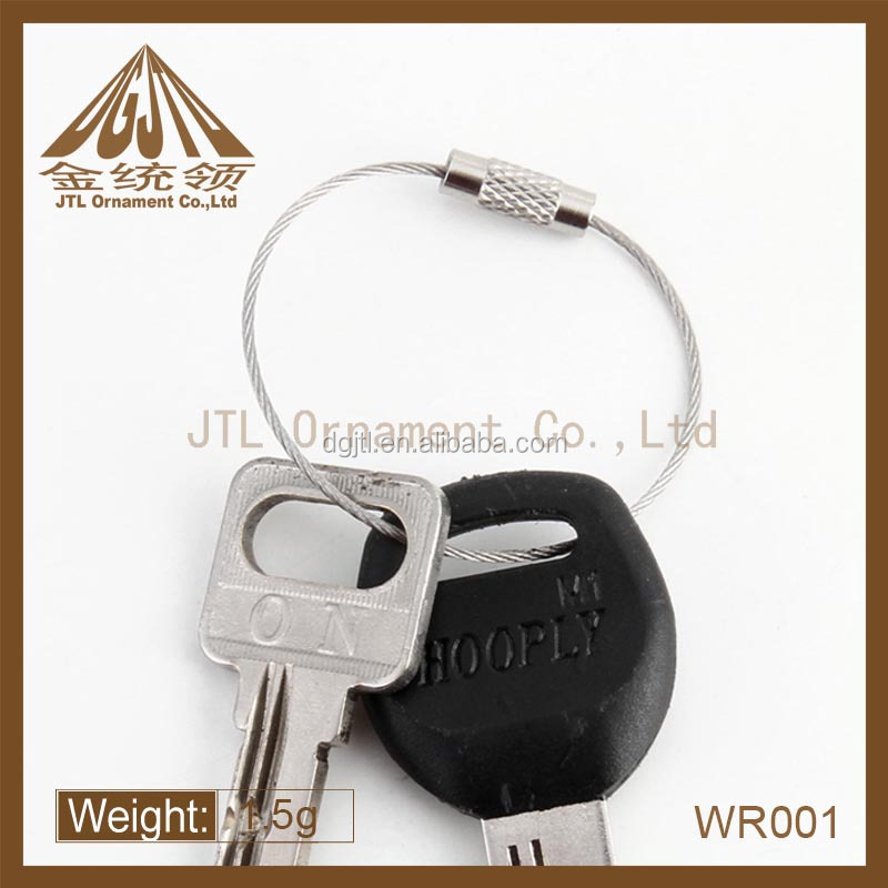 Fashion metal high quality key ring loop keychain wholesale
