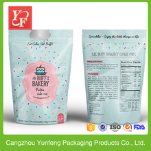 china alibaba plastic food cake mix packaging bag