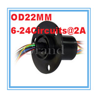 OD 22mm 18 circuits 2A electrical contacts Capsule Slip ring slip ring motor speed control