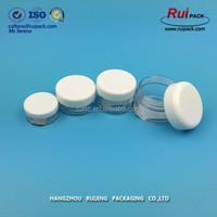 5ml, 10ml, 15ml small nail polish powder PS material plastic jar