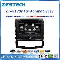 ZESTECH wholesale alibaba car radio for ssangyong korando auto radio support DVD/Radio/GPS/Bluetooth/3G/SD/USB/SWC/V-10 discs