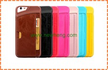 wholesale! Back cover wallet case for apple iphone 6 card slot phone leather case
