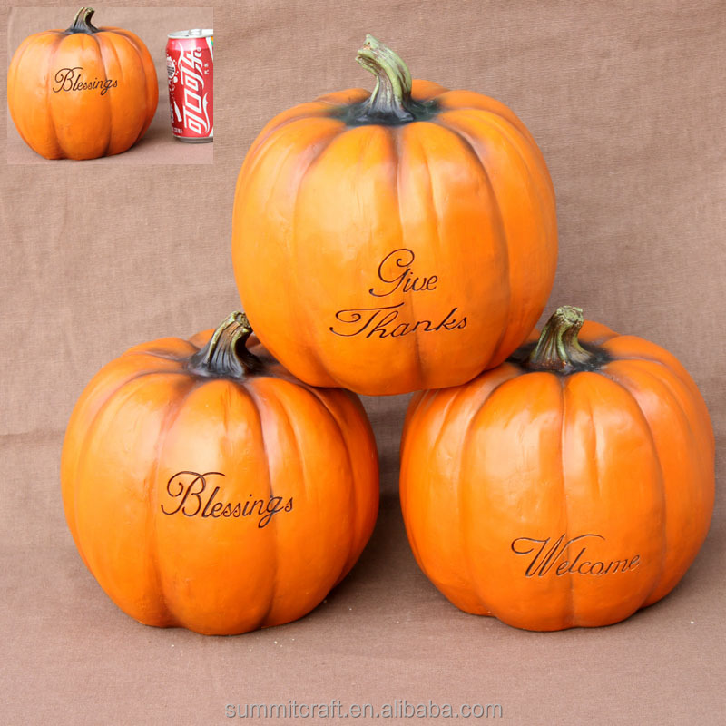 Wholesale resin pumpkin decoration craft wholesale artificial pumpkins