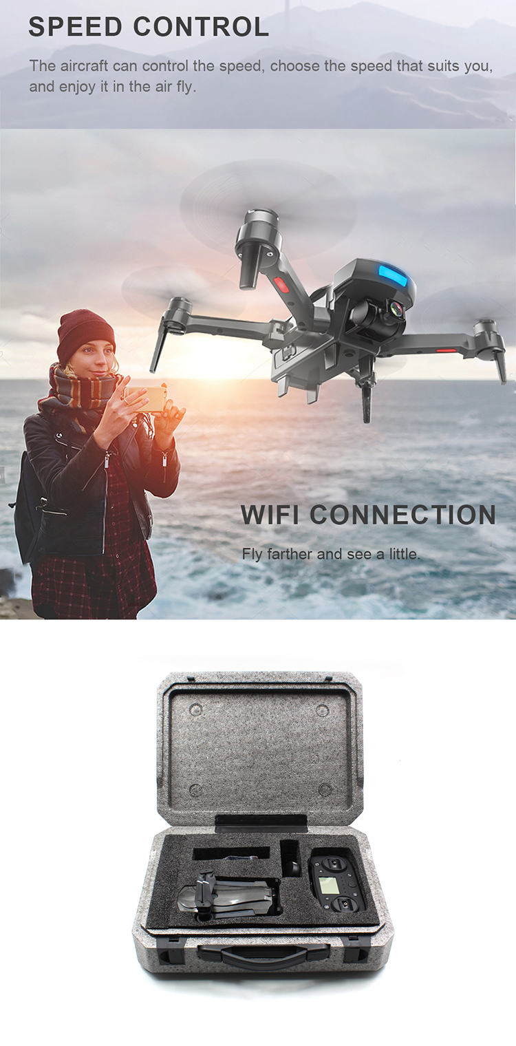 HAPPY SUN CG033 Brushless FPV Quadcopter With 1080P HD Wifi Gimbal Camera RC Helicopter Foldable Drone GPS Dron Kids Gift
