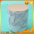 Marble candle jar with gold lid
