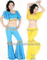 Affordable shining Belly Dance performance wear set,belly dancing outfits, Cheap Coin Belly Dance costumes (QC1418)