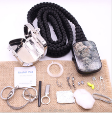 Alibaba wholesale survival camping multifunctional handwoven paracord survival belt with metal buckle for camping