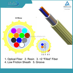 Micro Air Blown 12 Core Single Mode Fiber Optic Cable