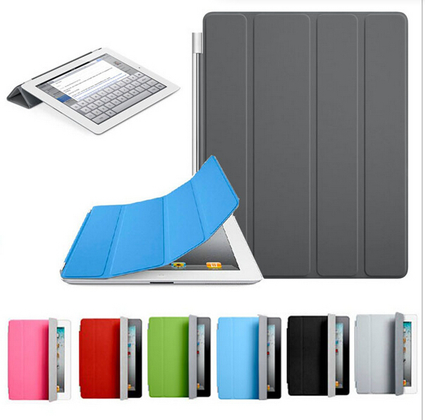 Sleeping Function Book Stand Magnetic Leather Back Case Smart Cover For iPad mini 3