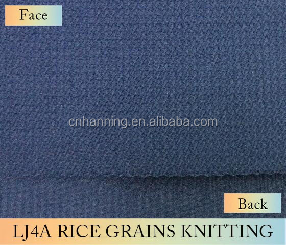 2017 High quality new style 100% polyester liverpool/rice/karara knitting fabric