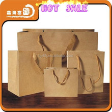 Shopping Brown Kraft Paper Bags with Handles