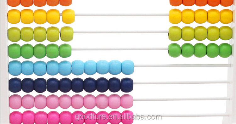 2015 Hot Sale Wooden Rocket Abacus Preschool Educational Counting Toys