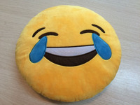 Fashion custom whatsapp QQ emoji design back pillows