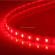5050 SMD DC12/24V 7.2W 30LED/M waterproofed red LED flexible strip lights 5M/reel