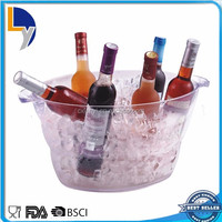 New design product custom logo plastic wine ice bucket with handle