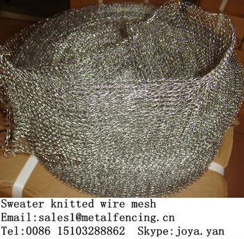 Noise suppression hollow tube sweater knitted wire mesh